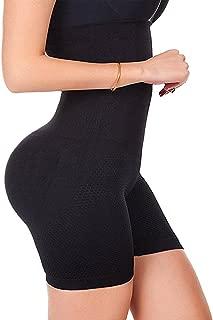 FUT Womens Shapewear Tummy Control Shorts High-Waist Panty Mid-Thigh Body Shaper Bodysuit