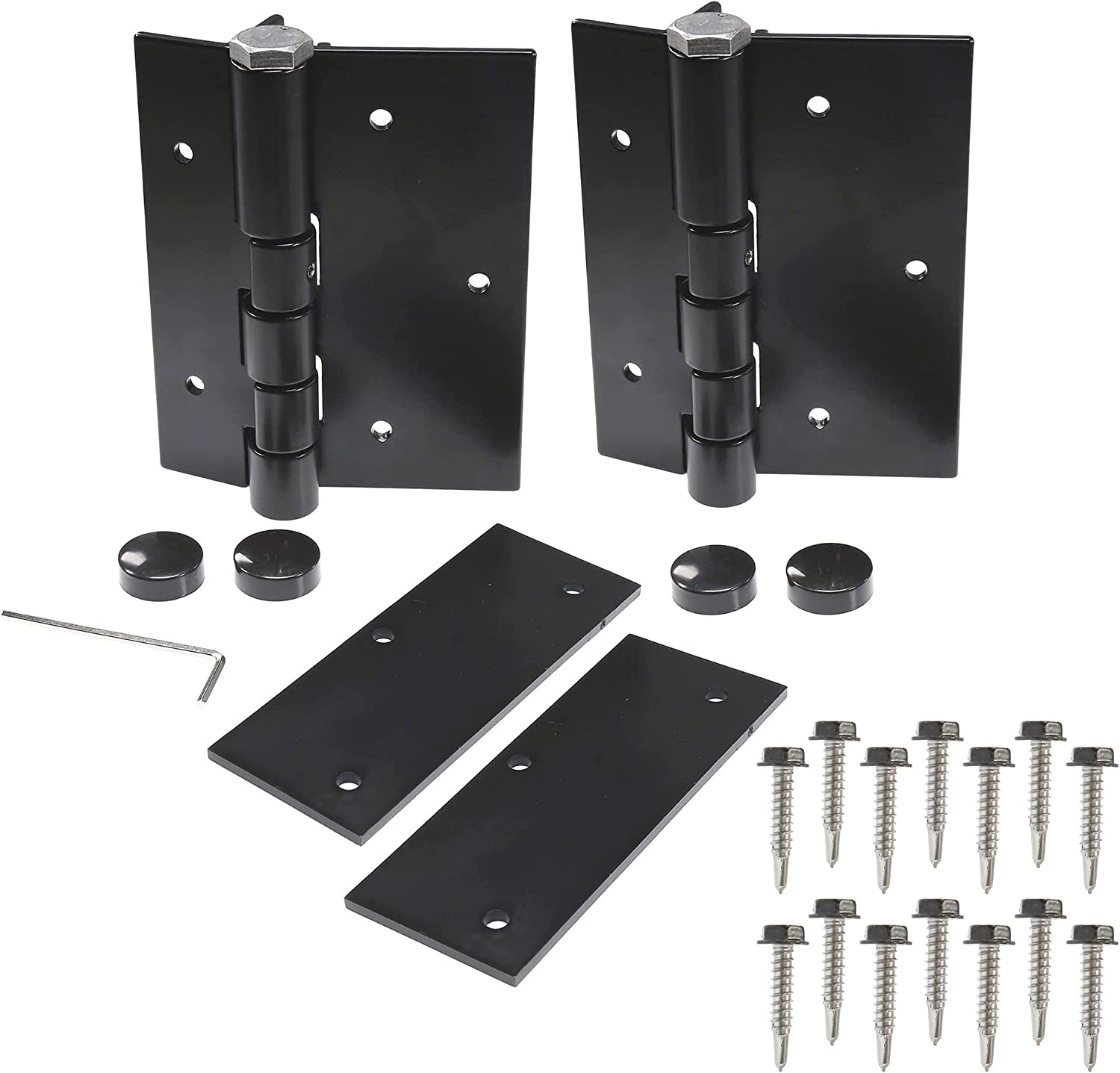 Plum Fittings Pair Challenge the lowest price of Max 47% OFF Aluminum Black Self-Closing Hin Gate Fence