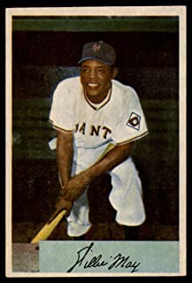 Baseball MLB 1954 Bowman #89 Willie Mays VG/EX Very Good/Excellent NY Giants