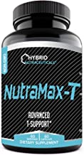 NutraMax-T The Advanced Test Booster and Testosterone Supplement for Boosting Testosterone Levels, Estrogen Blocker, Strength, Anti-Aging, Well Being (60 Servings)