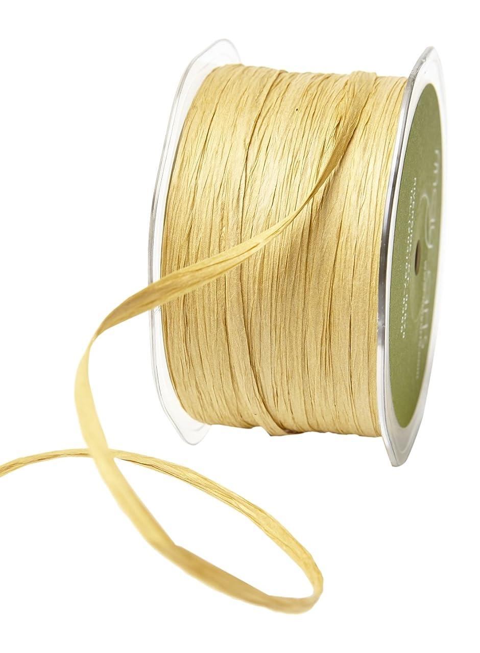 May Arts 200 Yards Paper Raffia Ribbon 200 yd Kraft