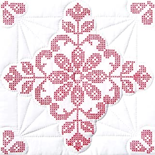 Jack Dempsey Needle Art 732282 XX Williamsburg 6-Quilt Block, 18-Inch by 18-Inch, White