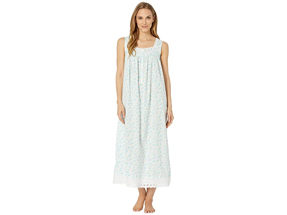 Eileen West Ballet Woven Floral Nightgown (White Ground Multi Floral) Women