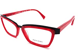Rx Eyeglasses Frames A02015 1055 53x15 Pearl Red Black Made in Italy