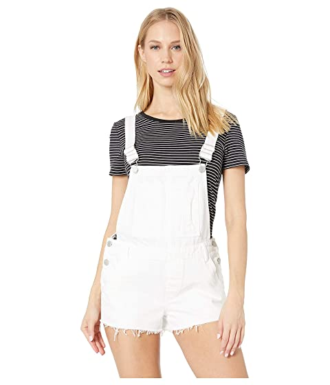 af5b47691a Blank NYC White Denim Short Overalls in Lightbox White at Zappos.com
