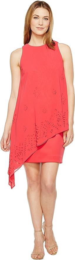 Lasercut Chiffon Dress