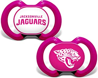 Baby Fanatic NFL Legacy Infant Pacifiers, Jacksonville Jaguars Pink, 2 Pack