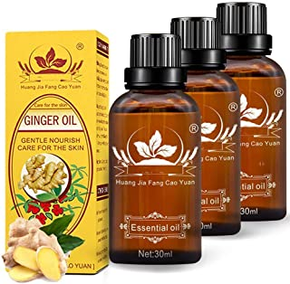 Sponsored Ad - 3 Pack Ginger Massage Oil,100% Pure Natural Lymphatic Drainage Ginger Oil,SPA Massage Oils,Repelling Cold a...