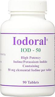 Iodoral Iod-50 High Potency Iodine/Potassium Iodide Tablets, 90 Count