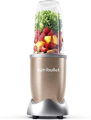 NutriBullet 900W Blender – Champagne Multi-Function Cold Beverage Smoothie Maker – 2 Cup Sizes and Stay Fresh Lid [International version]