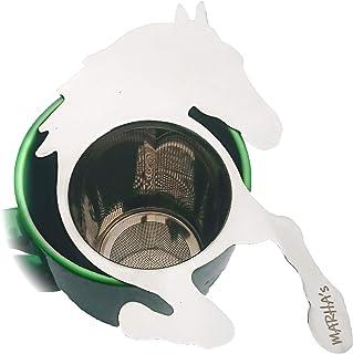 MARHA`s Loose Leaf Tea Diffuser - Reusable Fine Mesh Tea Mug and Pot Infuser, Dishwasher Safe Baking Sifter - Cute Horse Shape Steeper For Animal Lovers