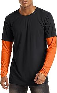 TACVASEN Men's Outdoor T Shirts Sun Protection Shirts Long Sleeve Summer Tops Lightweight UPF 50+ T-Shirt