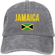 Secado Rápido Dad Hat,Transpirable Ocio Sombrero,Cómoda Sombrero De Deporte,2018 Moda para Adultos Algodón Denim Gorra De Béisbol Bandera De Jamaica Sombrero Clásico para Papá Gorra Lisa Ajustable B