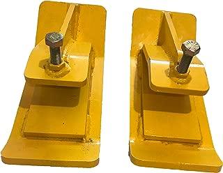 Pocono Metal Craft Tractor Bucket Ski Edge Turf Tamer Protector (Safety Yellow)