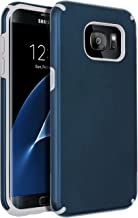 Samsung Galaxy S7 Edge Case,Galaxy S7 Edge Case,SENON Slim-fit Shockproof Anti-Scratch Anti-Fingerprint Protective Case Cover for Samsung Galaxy S7 Edge,Navy