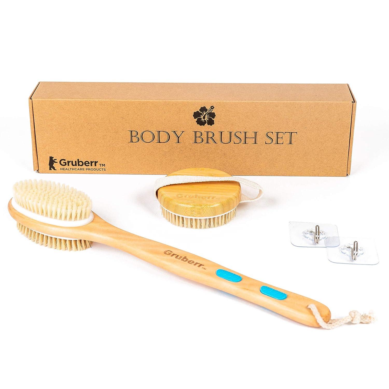 Gruberr Bath Body Brush High material Fashionable Set - for Soft and Skin Stiff B Glowing