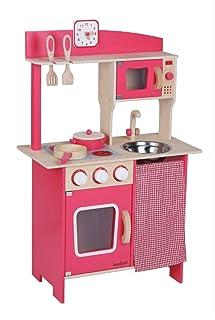 comprar comparacion VEDES Großhandel GmbH - Ware- Bee - Cocina de Madera con Accesorios, Color Rojo (0047024587)