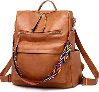 3D Stylish And Nice Print Pattern Coping With Stress Genuine Leather Backpack Purse For Women Travel Large College Shoulder Bag