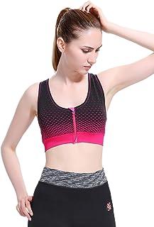 Alto Impacto de la Cara N Cara Mujeres Acolchado Espalda Cruzada Sujetador Deportivo Running Yoga Top