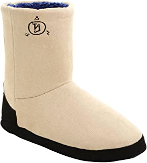 Supernatural Castiel Wing Slipper Boots Black Wings on Back with Angel Banishing Symbol Embroidered Front