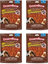 DreamBone Mini Chicken Wrapped Chews with Peanut Butter, 20 Count - 4 Pack
