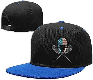 Lacrosse Helmet and Sticks Hip Hop Baseball Cap Kid's Snapback Hats Unisex