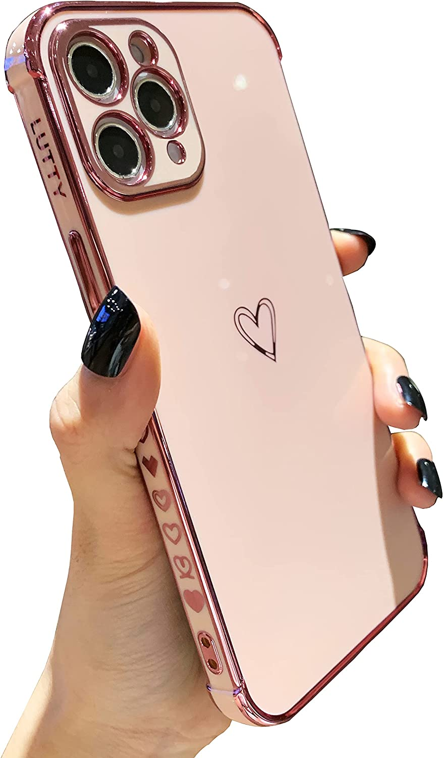 LUTTY Compatible with iPhone 11 Pro Max Case Cute, Soft Tup Phone 11Pro Max for Women, Raised Corners Bumper & Full Reinforced Camera Protection Cover for iPhone 11 Pro Max (6.5 Inch) -Candy Pink