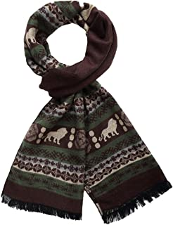 SSLR Men's Long Soft Cashmere Feel Bohemian Winter Scarf