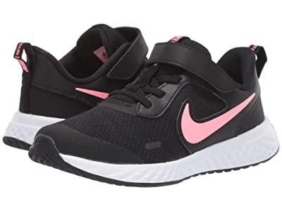 Nike Kids Revolution 5 (Little Kid) (Black/Sunset Pulse) Girls Shoes