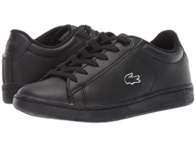 Lacoste Kids Carnaby Evo Bl 3 (Little Kid) (Black/Black) Kid