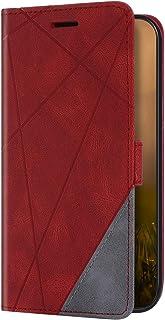 Uposao Beschermhoes compatibel met Samsung Galaxy S10 case portefeuille van leer met standfunctie kaartvakken magnetische ...
