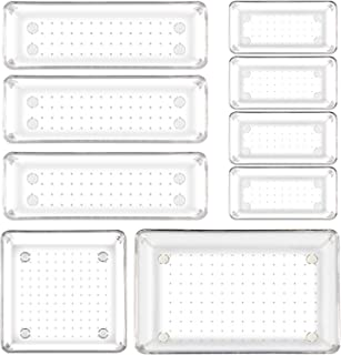 Ballery organiseurs de tiroir Système, Séparé Boîtes de rangement en Plastique Transparent , Organisateur de Bureau pour l...
