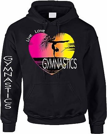932ad75918 Allntrends Adult Hoodie Sweatshirt Gymnastics Art Pink Print Love Live