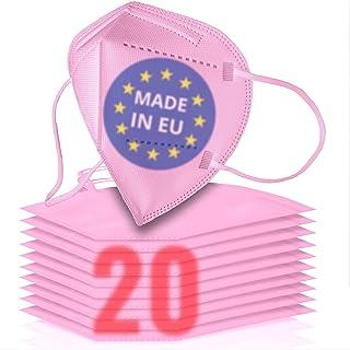 20x FFP2 rosa [MADE IN EU] - FFP2 Maske rosa CE zertifiziert nach EN149:2001+A:2009 - Farbige FFP2 Maske pink CE zertifizi...