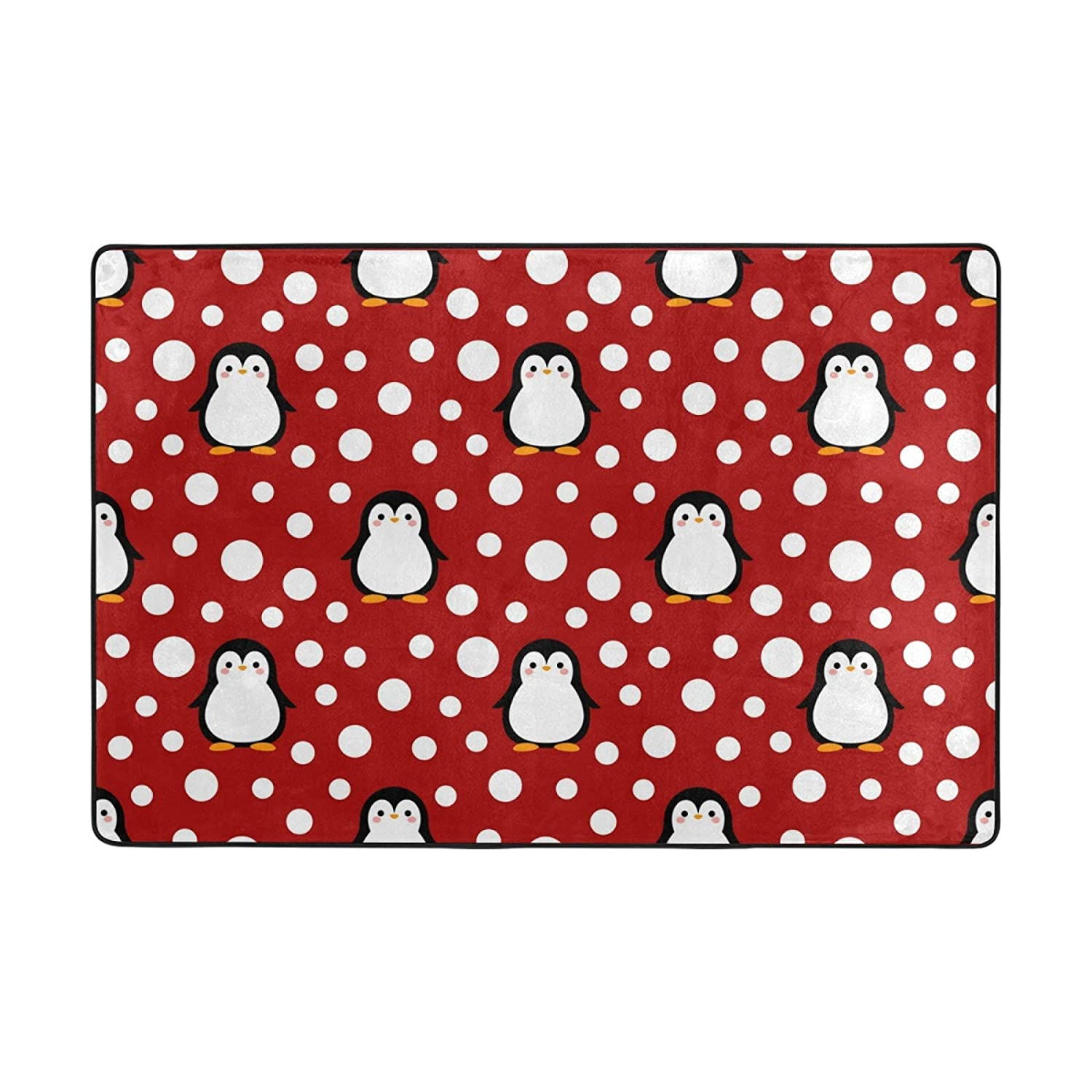 LifeCustomize Soft Large Area Rug Our shop most popular Snow Mat Cartoon Max 85% OFF Penguin with