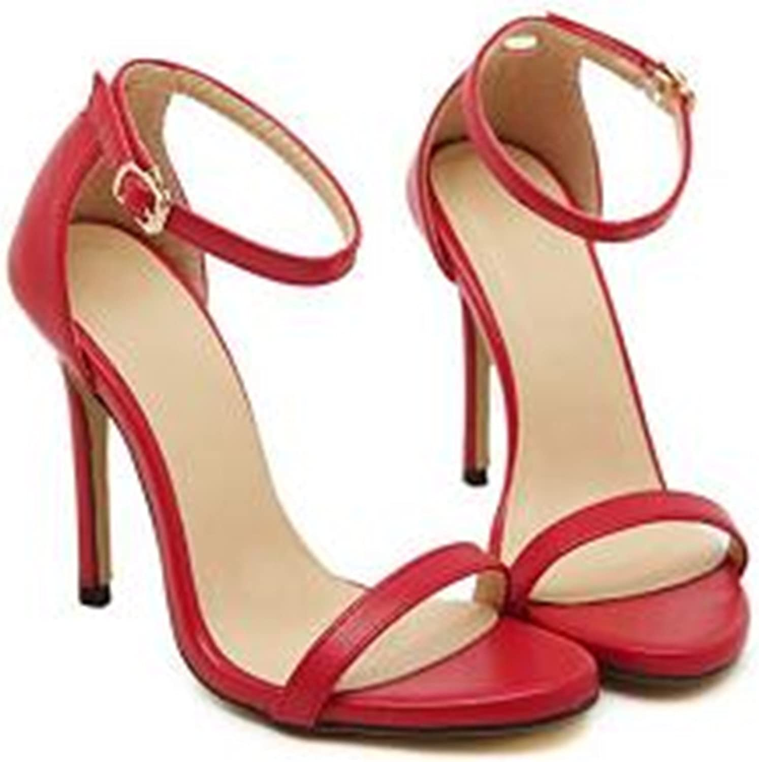 Ivan Johns Wedding Sandals high Heels Pumps Summer T-Stage Sexy Wedding shoes for Party Sandals Peep Toe Buckle Trap