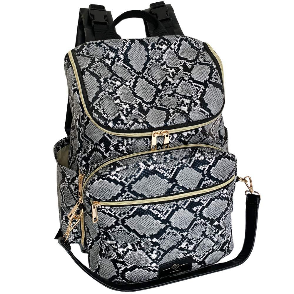 GI Gilded Imports Designer Diaper Bag for Baby Boy or Girl Family Backpack Detachable Purse