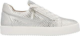 Luxury Fashion | Giuseppe Zanotti Design Men RU90017017 Silver Leather Sneakers | Spring-summer 20