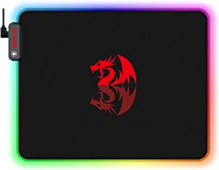 Redragon P026 RGB Wired Mouse Pad, Soft Cloth, Non-Slip Rubber Base, Stiched Edges (330 x 260 x 3mm)