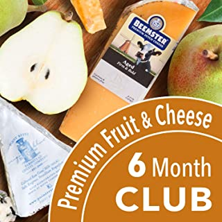Golden State Fruit Monthly Fruit and Cheese Club (Premium Version) - 6 Month Club