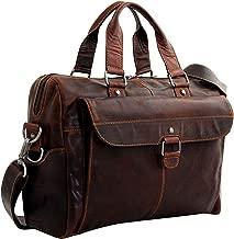 Jack Georges Voyager Top Zip Briefcase with Front Pocket (Brown)