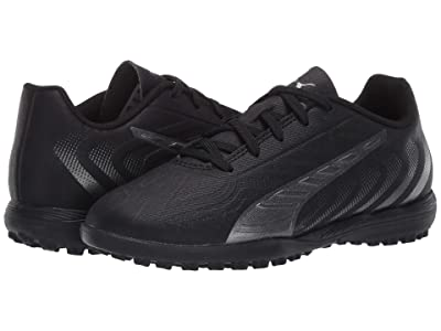 Puma Kids One 20.4 TT Soccer (Little Kid/Big Kid) (Black/Asphalt) Kids Shoes