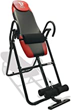 Body Vision IT9825 Premium Inversion Table with Adjustable Head Pillow & Lumbar Support Pad, Red - Heavy Duty up to 250 lbs