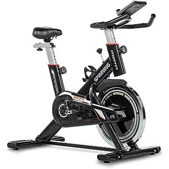 Tribesigns Bicicleta estática con medidor de frecuencia cardíaca, pantalla LCD, sensores de pulso muy silenciosos, bicicleta de spinning/fitness para el hogar: Amazon.es: Deportes y aire libre
