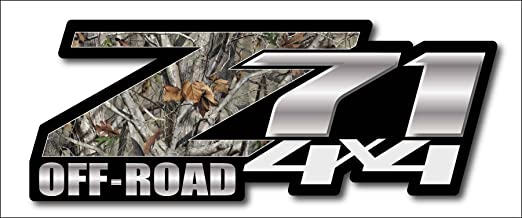 Camo Chevy Z71 4x4 Decals Set of Two GMC Off Road
