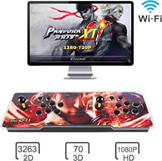 Pandora Treasure 3D Arcade Game Console - 3333 Games Installed, Search Games, Support 3D Games, WIFI,Add More Games, 1920x1080P, Favorite List, 4 Players Online Game, 2 Player Game Controls (Yellow)