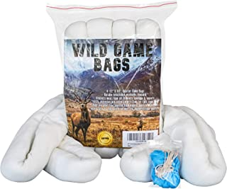 KTY Hunting Game Bags 4 Pack 60-inch Quarter Rolled Game Bags Hunting Meat uses are elk Game Bags Game Bags Deer Caribou Game Bags elk Meat Bags Moose Game Bags Reusable Free Bonus Included