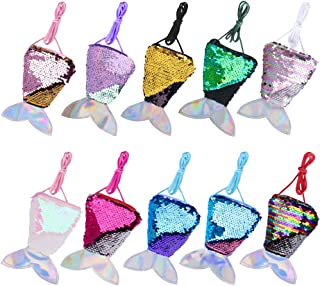 Hicdaw 10Pcs Coin Purse for Mermaid Purse for Girls Gifts for Mermaid Party Favors