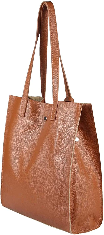 Sac à main en cuir pour femme 2 en 1 Sac à bandoulière HOBO Bag Sac à bandoulière à bijoux DIN A4 Cognac