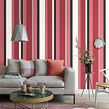 Special/Simple Non-Woven Striped Wallpaper Bedroom Living Room Wallpaper TC2604/Faro Red (Color : Tc2604/Faro Red, Size : ...
